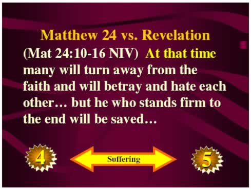Matt 24 vs. Revelation