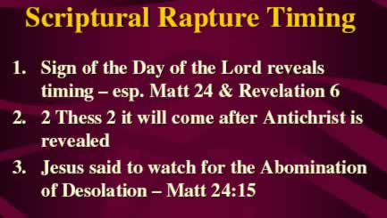 Scriptural Rapture Timing