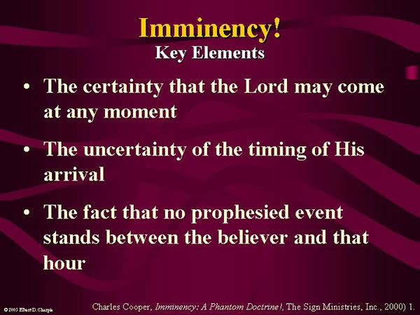 Imminency Key Elements