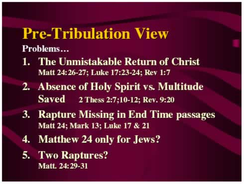 Pre-Tribulation Problems