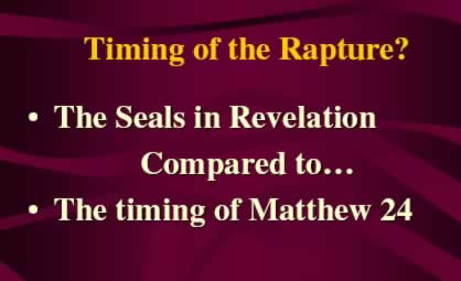 Timing of the Rapture