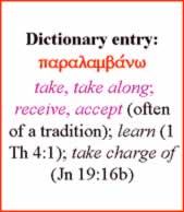 Dictionary - paralambano